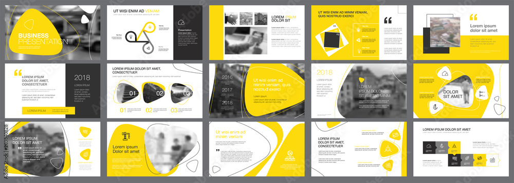 Valokuva Yellow and black logistics or management concept infographic set