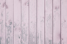 Pink, Lilac Vertical Old Wood Planks Background Texture