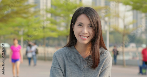 Fototapety, obrazy: Young woman smiling
