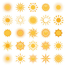 Vector Collection Of Sun Icons...