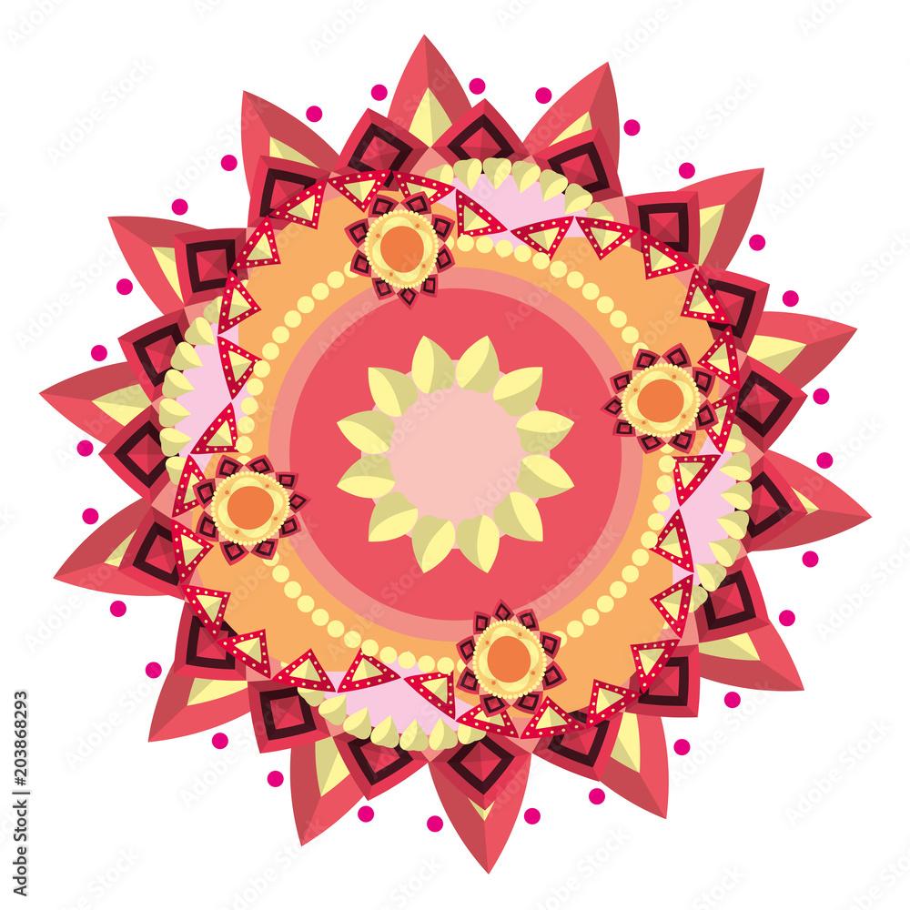 Photo  ornament mandala abstract decoration style