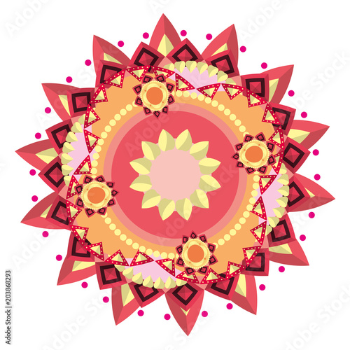 Photo  ornament mandala abstract decoration style