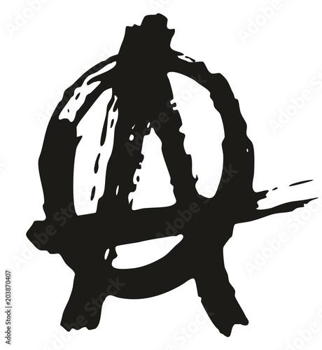 Valokuva  Pen Anarchy Symbol Freehand Pattern & Background Element Set 02