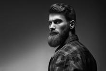 Black And White Photo Of Beard...