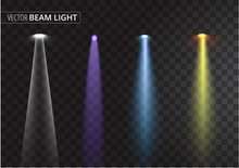 UFO Light Beam Isolated On Transparent Background. Vector Illustration