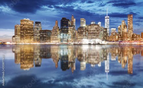 In de dag New York City Manhattan skyline, New York