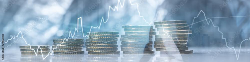 Fototapety, obrazy: Finanzen - Geld - Investment