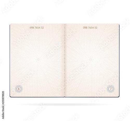 Obraz Realistic Detailed 3d Passport Blank. Vector - fototapety do salonu