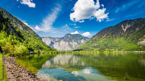 Austriackie Alpy - widok na jezioro
