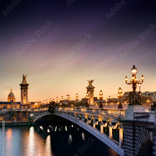 In de dag Centraal Europa Alexandre III Bridge in Paris, France