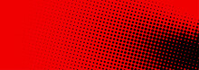 Black And Red Dotted Halftone Banner.