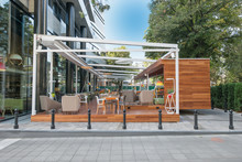 Modern Restaurant Terrace In T...
