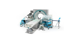 Modern Technology In The Medical Technic 3d Render On White