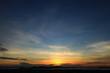 Beautiful sky on twilight time