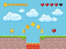 Video Pixel Game Landscape Wit...