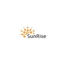 Summer Sun Vector Icon, Abstract Orange Modern Logo. Circle Sunny Shape, Beauty Illustration. Sunrice Logotype Template On White Background.