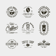 Set Of Modern Vintage Coffee S...