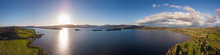 Panoramic View Of Loch Lomond, The Largest Inland Stretch Of Water In Great Britain By Surface Area. Scotland, UK