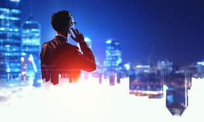 Fototapeta In rythm of modern business