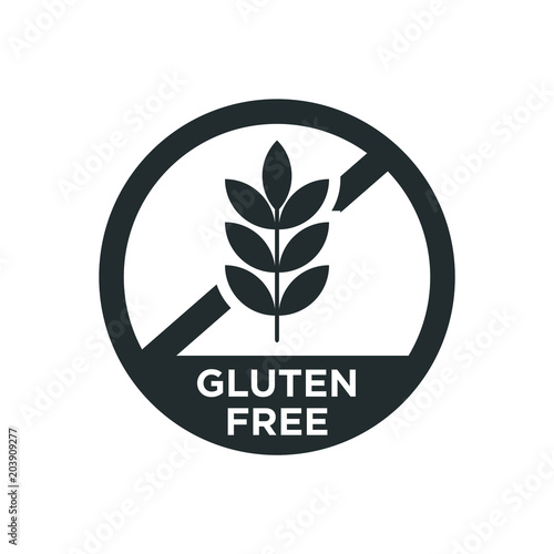 Fotografie, Obraz  Gluten free icon. Vector illustration.