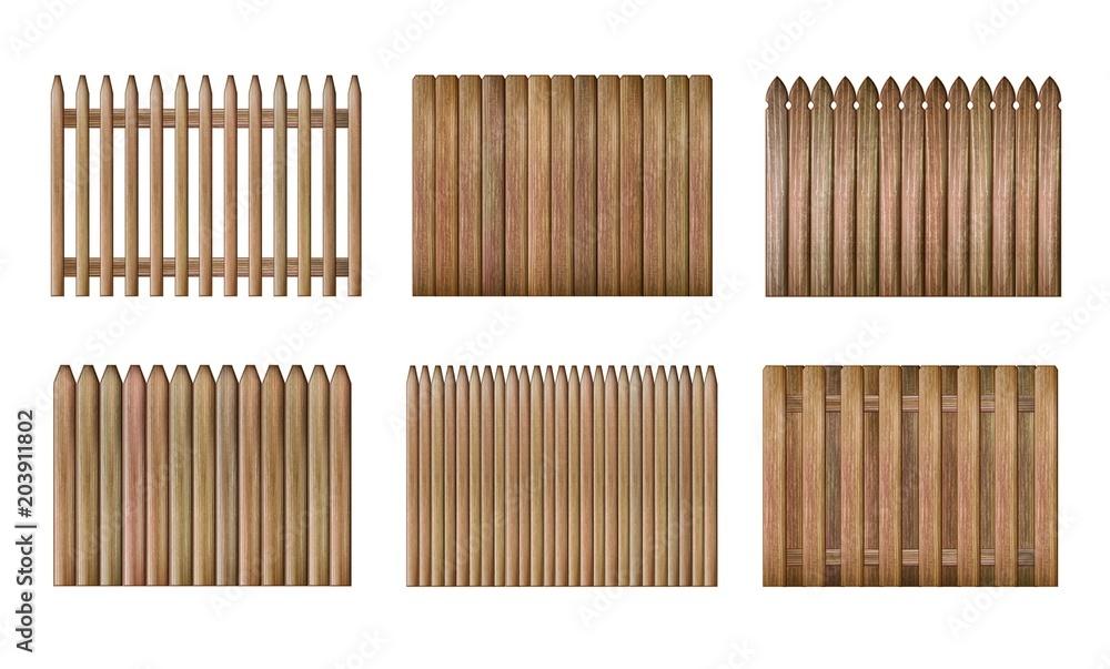 Fototapeta Wood fence