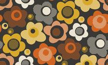 Creative Vintage Stylized Floral Seamless Pattern.