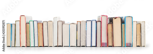 Stack of books isolated on a white background Tablou Canvas