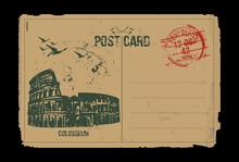 Rome, Colosseum. Italy. Post C...