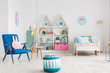Colorful kid's room interior