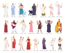 Collection Of Olympic Gods And...