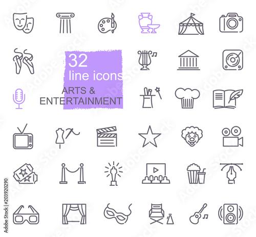 Cuadros en Lienzo  Arts and Entertainment icon set