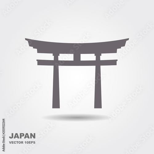Traditional Japanese Torii gate vector