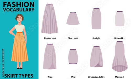 Skirt vocabulary collections of standard classic simple skirts Fototapeta