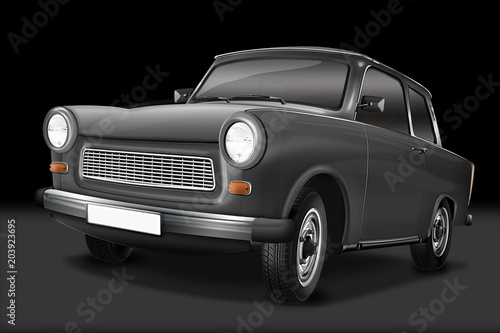 Fotografia  Trabant 601 - berühmter DDR Oldtimer, freigestellt