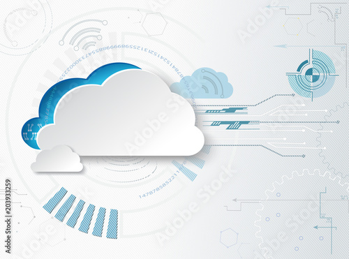 Obraz Hitech business background. Web-based cloud technologies - fototapety do salonu