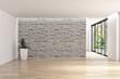 Leinwandbild Motiv Modern bright interiors apartment 3D rendering illustration