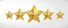 Star Rating Realistic Gold Sta...