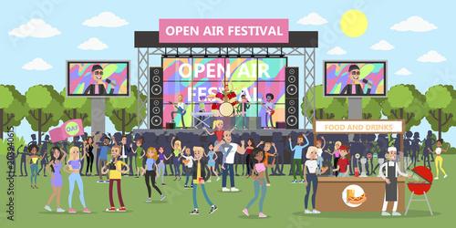 Fotografía  Open air festival.