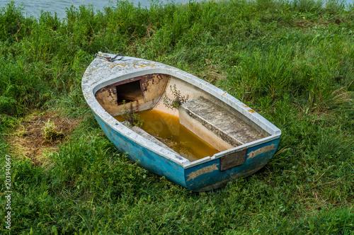 Deurstickers Schipbreuk Epave de bateau.