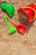 Children's Sandbox And Colorfu...
