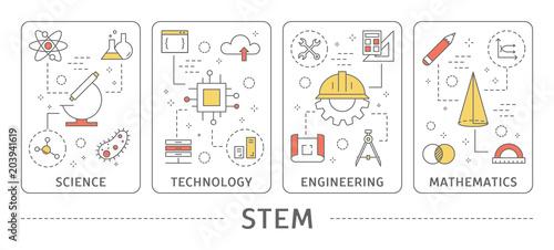 Obraz STEM concept illustration. - fototapety do salonu