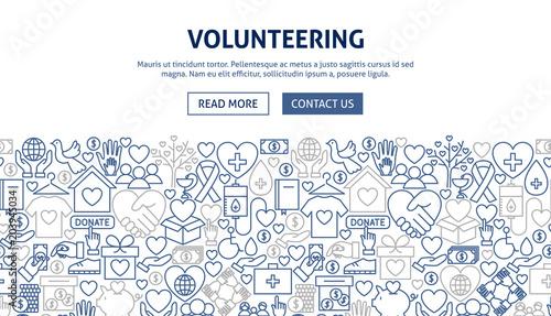 Fotografía  Volunteering Banner Design