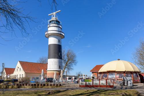 Foto op Aluminium Vuurtoren Ausflugsziel Leuchtturm Bülk