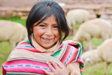 Happy Native American Girl Wea...