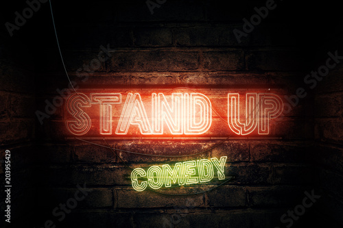 Fotografija  Stand Up Comedy neon sign