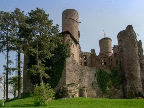 Deurstickers Kasteel Castle ruin Hanstein, Germany