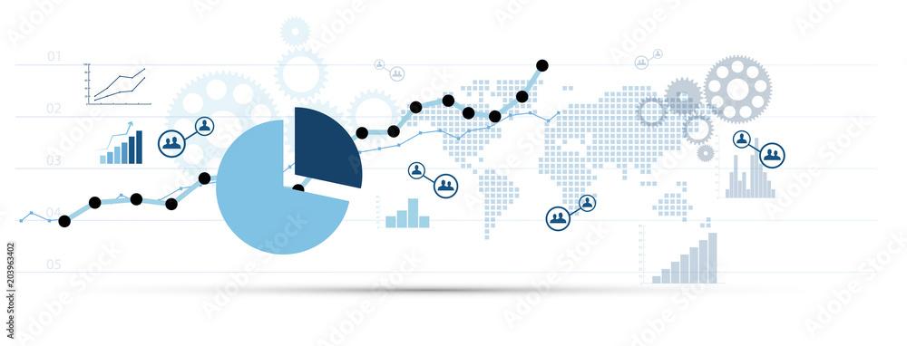 Fototapeta grafico economia, istogrammi, statistiche