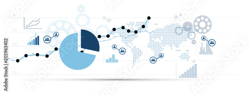 Fototapeta grafico economia, istogrammi, statistiche obraz