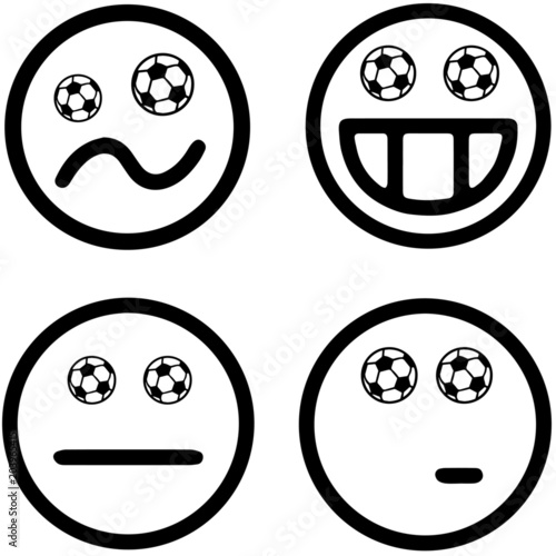 Fussball Smiley Emoji Kollektion Buy This Stock Vector And