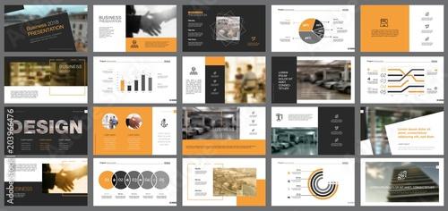 Fototapeta Business Slide Templates Set obraz na płótnie